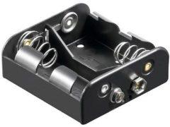 Goobay 11455 Batterijhouder 2x C (baby) Drukknopaansluiting (l x b x h) 62.5 x 55.8 x 23.5 mm