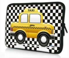 Gele Sleevy 17,3 laptophoes taxi - Laptop sleeve - Macbook hoes - beschermhoes