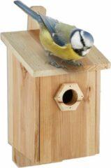 Relaxdays vogelhuisje hangend - houten nestkast - vogelhuis koolmees - tuin - vogels S