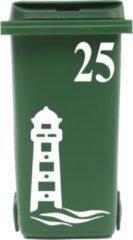 Rosami Decoratiestickers Klikosticker Vuurtoren Golven Met Huisnummer Rosami 1 Stuks Kleur: Zie Omschrijving