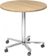 Hjh OFFICE PRO Bistro 80R C - Systeem conferentietafel Esdoorn / Chroom