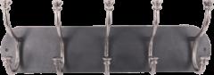 Collectione Landelijke Kapstok Lesina Ovaal 71 cm Lood Met Ruw Nickel 5 Haaks