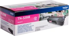 Paarse BROTHER TN-329M tonercartridge magenta extra high capacity 6.000 pagina s 1-pack