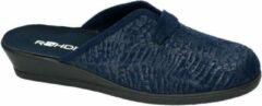 Donkerblauwe Rohde -Dames - blauw donker - pantoffel - muil - maat 37½