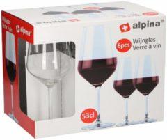 Transparante 6 stuks wijnglazen voor rode wijn 530 ml