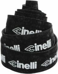 Zwarte Cinelli Logo Velvet Stuurlint, black/white