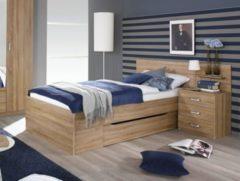 Rauch-PACKs Bett 90 x 200 cm mit Nachtkommode Eiche Sonoma RAUCH PACKS Gandra