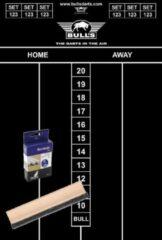 Bull's Dart krijt scorebord set met krijtjes en wisser 45 x 30 cm - Sportief spelen - Darten/darts - Scoreborden voor kinderen en volwassenen