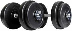 Matchu Sports Dumbbell set - Totaal 20 kg - 2 x 10 kg - Zwart