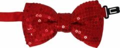 Jessidress Feestelijke Vlinderstrik Jongens Vlinderstrikje met pailletten - Rood
