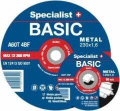 SSpecialist+ 10 st x Doorslijpschijven Basic Specialist+ 2mm / 230mm (staal)