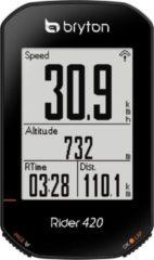 Zwarte Bryton Rider 420 T / Totaal Fietscomputer - 420 T / Totaal