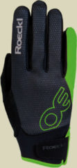 Roeckl Riga Unisex Softshell-Fahrradhandschuh Größe 8 black/green