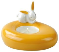 Orange Sunrise Bunny - Teelichthalter Bunny de luxe Goebel Bunt