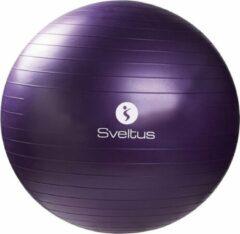 Sveltus fitnessbal 75 cm paars in doosje