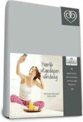 Bed-Fashion Percaline Topper katoen hoeslaken 140 x 200 cm zilver grijs
