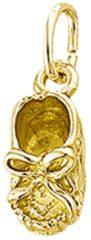 Goudkleurige The Jewelry Collection Hanger Baby Schoen Massief - Geelgoud
