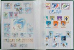 Leuchtturm Albenverlag Postzegelinsteekalbum met 64 witte bladzijden - Basic W 64 blauw