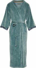 Blauwe Essenza Ilona Uni Dames Nachtmode kimono Maat S