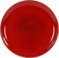 Rode Kaitø Coupebord diam. 16cm. 'Blossom Red' KAITØ Stoneware per 6 stuks