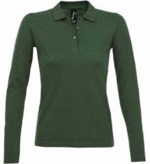 Groene Polo Shirt Lange Mouw Sols PERFECT LSL COLORS WOMEN