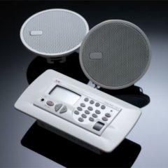 KBSound Einbauradio Premium mit RDS,Wochentimer und Konsole, z.B. für Hotels Farbe: Weiss