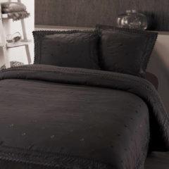 Antraciet-grijze Fancy Embroidery RL 12 - Dekbedovertrek - Eenpersoons - 140x200/220 cm + 1 kussensloop 60x70 cm - Antraciet