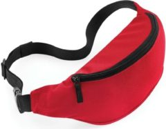 Merkloos / Sans marque Heuptasje/fanny pack rood 38 x 14 x 8 cm festival musthave