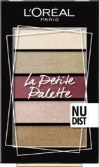 Gouden L'Oréal Paris Le Petit Palette 02 Nudist oogschaduw