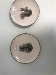Zandkleurige Merkloos / Sans marque Ontbijtborden herfstsfeer
