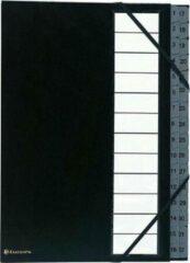 Witte Exacompta sorteermap Ordonator met harde kaft, numeriek, uitrekbare rug, 32 vakken, zwart