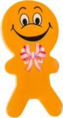 Lg-imports Gum Poppetjes Junior 6 Cm Rubber Oranje 2 Stuks