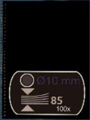 Draadrug 10mm 21 rings A4 GBC US Zilver