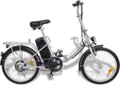 Zilveren VidaXL Elektrische fiets opvouwbaar met lithium-ion accu aluminiumlegering