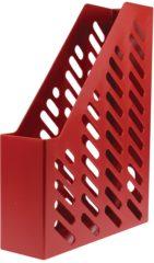 Rode HAN Classic Tijdschriftencassette Rood A4 75 mm Kunststof 7 6 x 24 8 x 31 5 cm