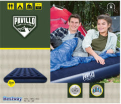 Pavillo Camping luchtbed flocked blauw double 67002