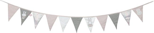 Afbeelding van Nijntje Vlaggenlijn Pink Rib-serie Textiel 240 Cm Grijs/wit/roze