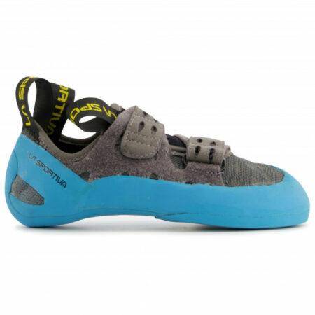 Afbeelding van La Sportiva - GeckoGym - Klimschoenen maat 46, grijs/turkoois/zwart