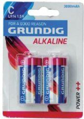 Grundig batterijen alkaline C/LR14 3000 mAh 2 stuks