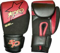 Bokshandschoen Gel Starpro | rood-zwart 14 oz