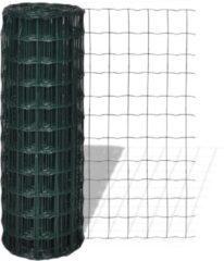 Groene VidaXL Euro gaas 25 x 1.2 m / maaswijdte 76 x 63 mm