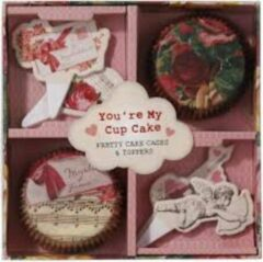 Roze Talking Tables You're My Cupcake cups & toppers