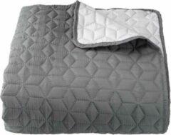 Lucy's Living Lucy's Living Luxe ROSA Beddensprei Ruitjes - 220 x 240 cm - grijs – tweepersoons – beddengoed – slaapkamer – spreien - polyester - katoen