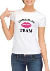 Fun & Feest Party Gadgets Vrijgezellenfeest Team t-shirt wit dames - maat L - vrijgezellen shirt