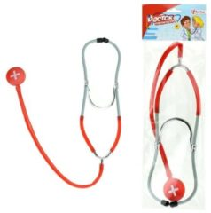 Toi-Toys Toi Toys dokters stethoscoop 29 cm rood