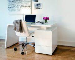 Cats Collection Schreibtisch weiß matt Weissglas