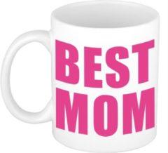Roze Bellatio Decorations Moederdag cadeau mok / beker - Best Mom - 300 ml