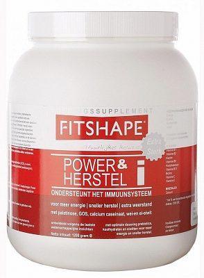 Afbeelding van Fitshape Vanille - Power&herstel - 1200 gram - Eiwitshake