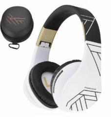 Gouden PowerLocus P2 draadloze Over-Ear Koptelefoon Bluetooth - Inklapbaar - Met microfoon - Zwart/Wit