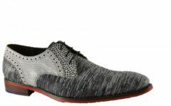 Floris van Bommel 18107 nette veter schoen - zwart, ,43 / 9